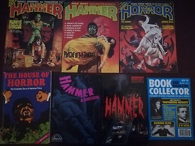 Hammer Horror magazines and books, collector guide included