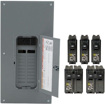 Square D 200-Amp 20-Space 40-Circuit Indoor Main Breaker Panel Box Load Center