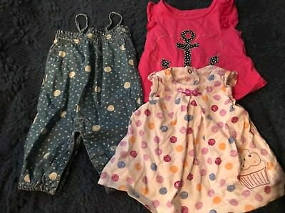 Lot Of 4 Pieces Infant Girls Clothing Baby Gap Carters 0 6 Months