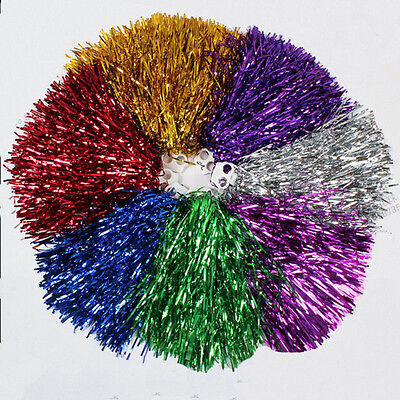 Cheerleader Pom Poms Waver Fancy Dress Costume Pompoms Dance Hen Party Decor-GVU