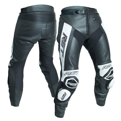 RST Tractech Evo R CE Black / White Motorrad Motorcycle Leather Trouser