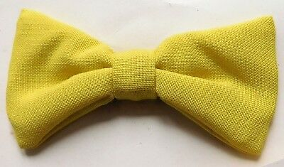 Small clip on boys bow tie Yellow Vintage 1950s 1960s childrens Tenax UNUSED