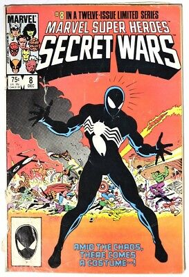 S521. MARVEL SUPER HEROES SECRET WARS #8 by Marvel (1984) ORIGIN VENOM SYMBIOTE