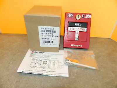NEW SIMPLEX 4099-9003 Double Action Addressable Manual Fire Alarm Pull  Station