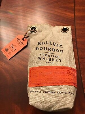 Bulleit Bourbon Frontier Whiskey Special Edition Ice Crusher Lewis Bag With Tags