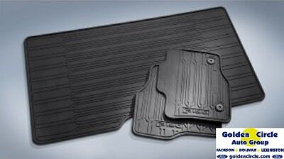 Brand New Ford Oem 3Pc All Weather Rubber Mats 2015 - 2018 F150 Super Crew