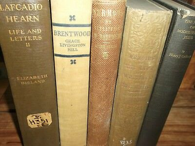 Lot of 5 Antique Collectible Vintage Old Rare Grace Livingston Brentwood decor