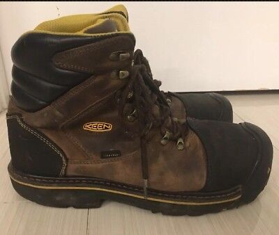 Keen Utility Milwaukee Steel Toe Boots F2413-11 Mens sz 11  Brown Leather Shoes