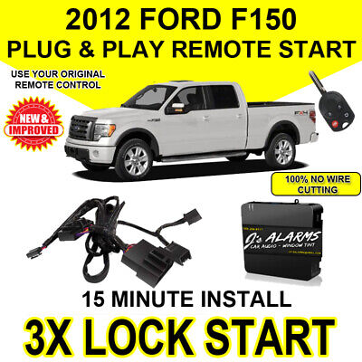 2012 Ford F-150 Remote Start Plug and Play Easy Install Truck F150 3X Lock