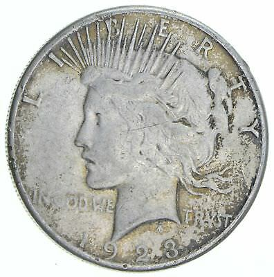 Early 1923-S Peace Silver Dollar - 90% Silver - US Coin *260