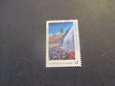 No--1---2017   NORFOLK  ISLAND  WATER FALL   -$2  -USED
