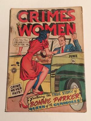 Crimes by Women #1 Fox Comics 1948 Pre-code GD/VG water damage pics in descrp