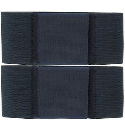 """Boot Bands: 2"""" Wide Nwu Blue Trouser Blousers Boot Band Bands Pair  Per  Package"""