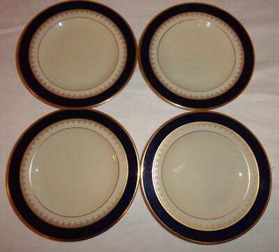"LOT OF FOUR Pickard China Royal Blue & Gold Washington 6.375"" Small Butter Plate"