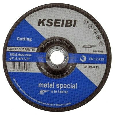 "KSEIBI 10 x 9"" 230mm x 3mm Metal Cutting Disc Angle Grinder Steel Cutoff Wheel"