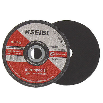 "KSEIBI 25 x 4"" 100mm x 1mm Thin Metal Cutting Disc Cut Off Wheel Stainless Steel"