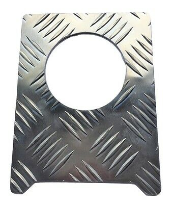 Fuel Cap Surround (Large) - 2mm Chequer Plate - Natural - Defender