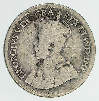 SILVER - George V 1910-1936 Canada 10 Cents - World Silver Coin *671