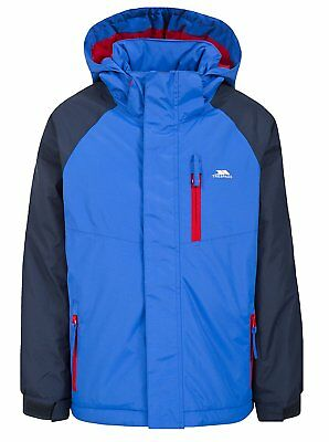 Trespass TP50 Lomont Boys' Outdoor Hooded Jacket available in Blue - Size 9/10