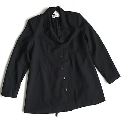New Motherhood Maternity Black Suit Jacket Church Career Medium Long Modest