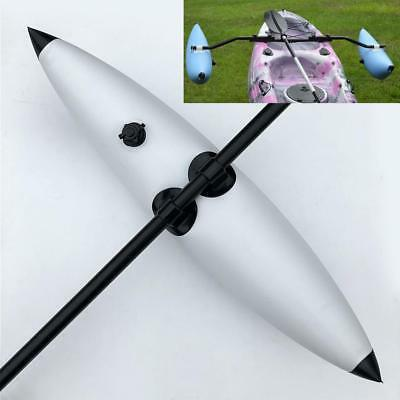 Durable White PVC Inflatable Stabilizer Kayak Canoe Fishing SUP Accessories