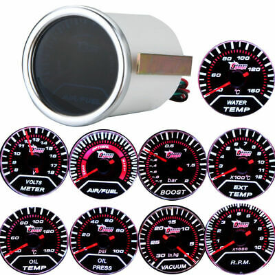 "2 ""52 mm Auto Bar Boost Gauge Universale Smoke Indicatore Lens  T9X3"