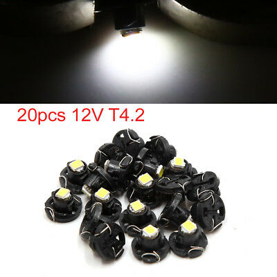 20pcs 12V T4.2 White LED 1210 SMD Car Dashboard Light Gauge Panel Lamp Interior