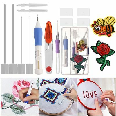 Magic Embroidery Pen Set Craft Tool for Embroidery Threaders DIY Sewing