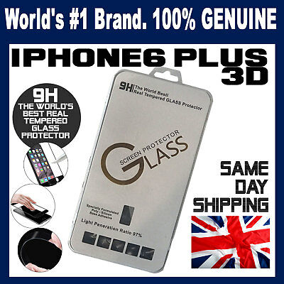 100% Real Genuine Tempered Glass Screen protector for apple iPhone 6 PLUS + 3D