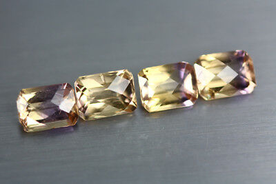 5.865 Cts Amazing Finest Unbelievable Quality Hi-End Natural Ametrine Aaa 4-Pcs!