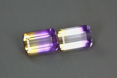 3.310 Cts Amazing Finest Unbelievable Quality Hi-End Natural Ametrine Aaa 2-Pcs!