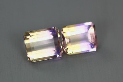3.900 Cts Amazing Finest Unbelievable Quality Hi-End Natural Ametrine Aaa 2-Pcs!