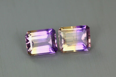 5.190 Cts Amazing Finest Unbelievable Quality Hi-End Natural Ametrine Aaa 2-Pcs!