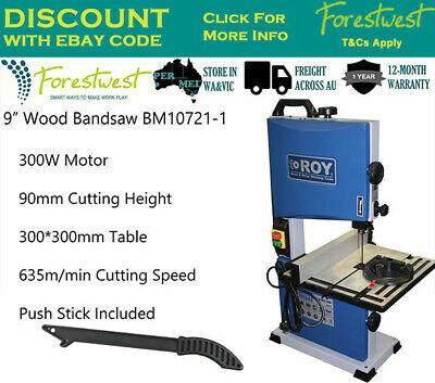"""9"""" Bandsaw Wood Timber Cutting Table 200mm Cutting Width 300W Wood Band Saw ROY"""