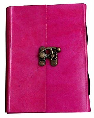 6X4 Handmade Vintage Pink Leather Personal Travel Journal Diary Note Book
