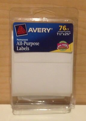 AVERY All-Purpose Labels, 1.5 x 2.75 Inches, White, Pack of 76