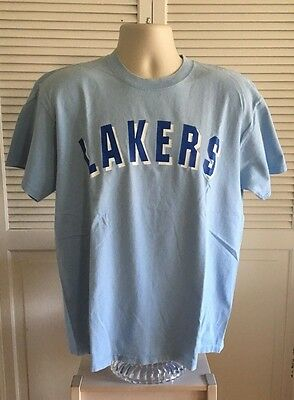 Vintage Los Angeles LA Minneapolis Lakers T Shirt Mens L Large Retro Blue