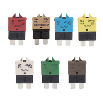 5-30A Manual Reset Circuit Breaker Blade Fuse For 12/24V Auto Car Boat Truck