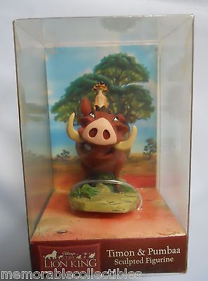 Disney Lion King PUMBAA& TIMON Simba Pals Enesco Sculpted Figurine Figure 111789