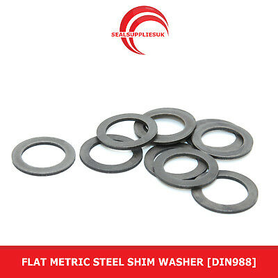 Flat Metric Steel Shim Washer : 0.2mm Thickness [DIN988]