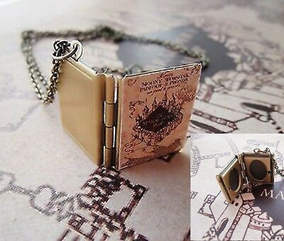 Collana Harry Potter Mappa Del Malandrino Ciondolo Marauder's Map Plan Necklace