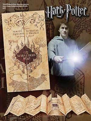Harry Potter Mappa Del Malandrino 1/1 Marauder's Map Ufficiale Plan Noble #1