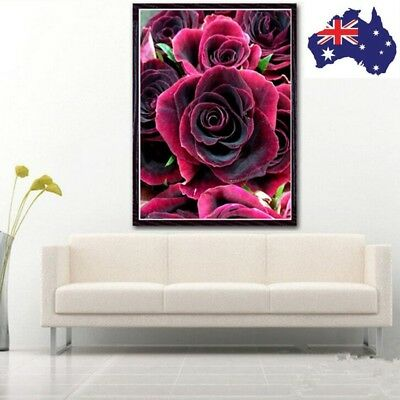 ROSE Full Drill DIY 5D Diamond Painting Embroidery Cross Crafts Stitch Decor LX