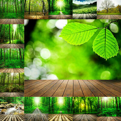 Forest Plank Wood Wall Vinyl Photography Backdrop Photo Studio Background Props