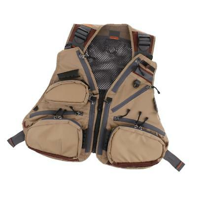 Outdoor Mesh Fly Fishing Vest Fishing Vest Pack Backpack Chest Mesh Bag