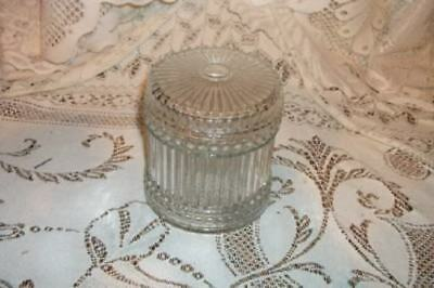 Vintage Chic Vanity Glass Canister Shabby Marked Nice