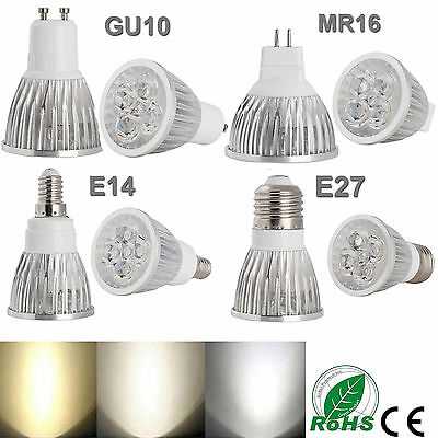 Ultra Brillante Regulable Mr16/Gu10/E27/E14 9w 12w 15w Led Foco Bombillas
