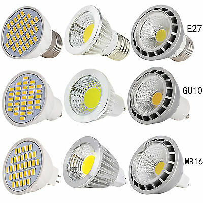 E27/GU10/MR16 Led Regulable Bombilla Foco 4/5W 6W 9W 12W 15W SMD / Cob Blanco
