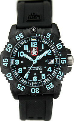 preowned authentic Luminox navy seal colormark 3050 series 3053 silicone watch