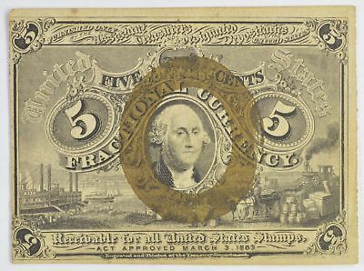 1863 5 Cents 2nd Issue Fractional Currency *313